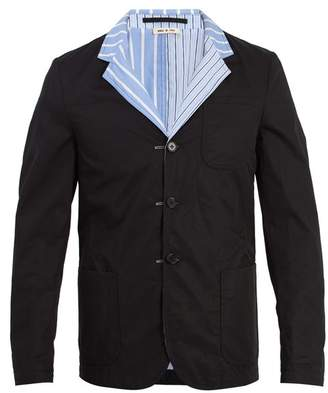 Marni - Reversible Striped Cotton Blazer - Mens - Black Multi