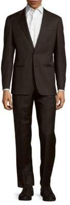 Armani Collezioni Textured Solid Wool Suit