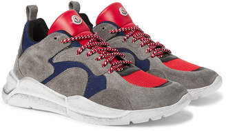 Moncler Jakub Suede, Leather and Mesh Sneakers