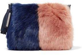 Loeffler Randall Two-Tone Faux Fur And Suede Pouch