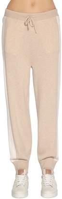 Agnona Two Tone Cashmere Knit Sweatpants