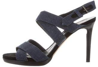 Reed Krakoff Denim Multistrap Sandals