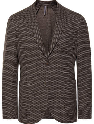 Incotex Brown Slim-Fit Virgin Wool And Cotton-Blend Blazer