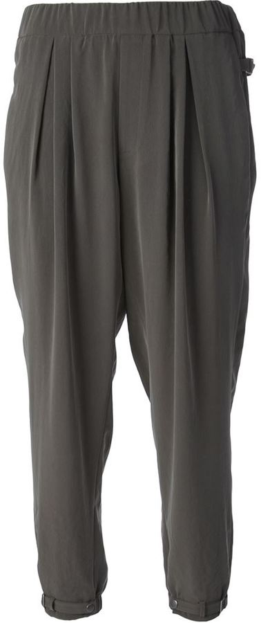 Helmut Lang ruched trouser