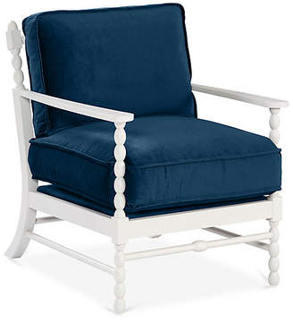 Mr & Mrs Howard Laguna Accent Chair - Denim Velvet