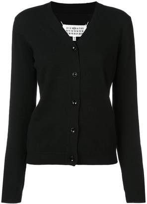 Maison Margiela fitted V-neck cardigan