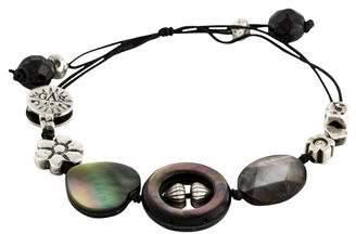 Mother of Pearl Gas Bijoux & Onyx Station Bracelet