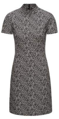 HUGO Boss Patterned Dress Kirsi 4 Black