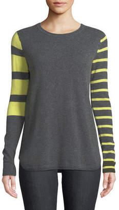 Lisa Todd Classic Pop Striped Cashmere Sweater, Petite