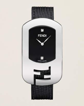 Fendi F300031011D1 Silver-Tone & Black Chameleon Watch
