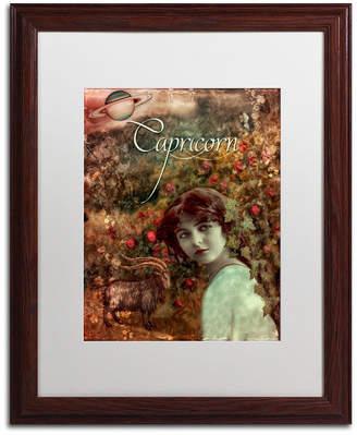 Color Bakery 'Art Nouveau Zodiac Capricorn' Matted Framed Art