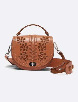 Draper James Leather Embellished Round Saddle Bag