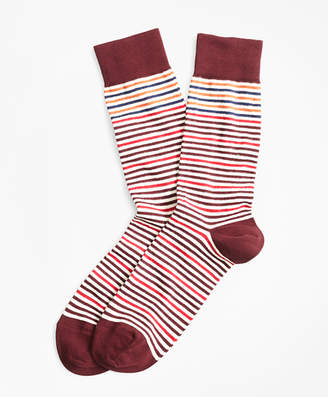 Brooks Brothers Striped Crew Socks