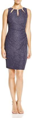 Eliza J Cutout Neck Metallic Dress $138 thestylecure.com