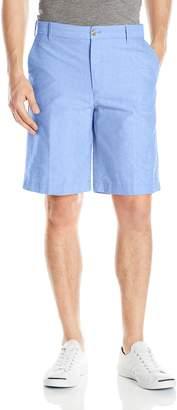 Izod Men's Flat Front Solid Oxford Short