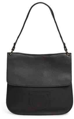 Salvatore Ferragamo Pebbled Leather Hobo Bag