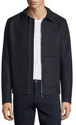 Vince Raw-Edge Zip-Up Utility Jacket $695 thestylecure.com