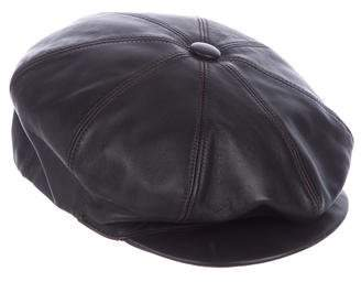 Borsalino Leather Driving Cap