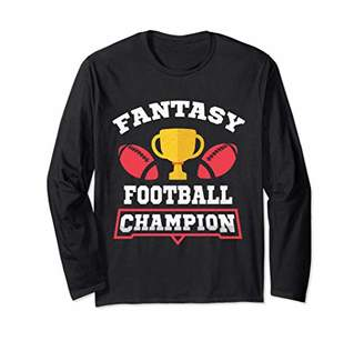Fantasy Football Draft Champion Trophy Long Sleeve T-Shirt