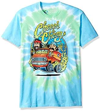 Liquid Blue Unisex-Adult's Cheech and Chong Smokin' Ride Tie Dye Short Sleeve T-Shirt