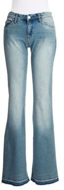 Blank NYC Distressed Flared Jeans