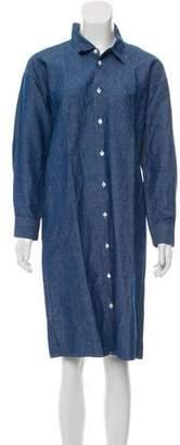 Junya Watanabe Chambray Button-Up Shirtdress