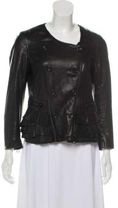 3.1 Phillip Lim Leather Embellished Biker Jacket