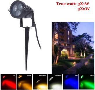 Generic SOLEDI® Green, 3X3W AC85 to 265V : New Arrive Outdoor led Garden Light Spike 12V 220V 110V Garden Lights Outdoor 3*1W 3*3W Outdoor Lighting Garden for Yard