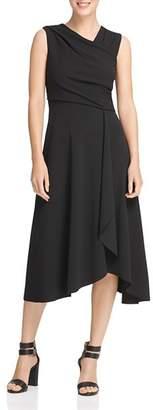 Donna Karan Draped Crossover Dress