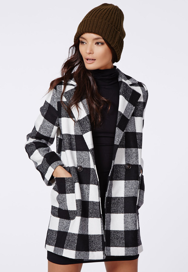 Lily Lumberjack Coat Black Check