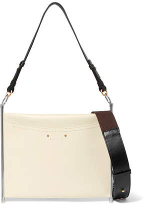 Chloé Roy Textured-leather Shoulder Bag - White