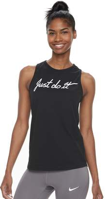"Nike Women's Dry Training ""Just Do It"" Graphic Tank"