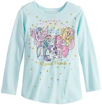 """My Little Pony Toddler Girl Jumping Beans Magical Friends"""" Glittery Graphic Tee"""