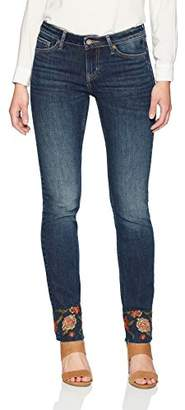 3.1 Phillip Lim Denim Bloom Women's Jeans Normal Waist Straight Leg Jeans with Released Raw Hem Blue Color Size 29 Size 7 Size 8 Medium