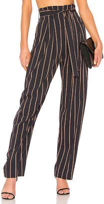 Vince Belted Stripe Wide Leg Pant