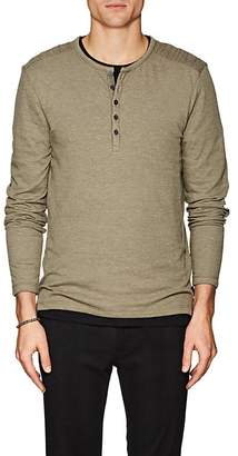 John Varvatos Men's Cotton-Blend Jersey Henley