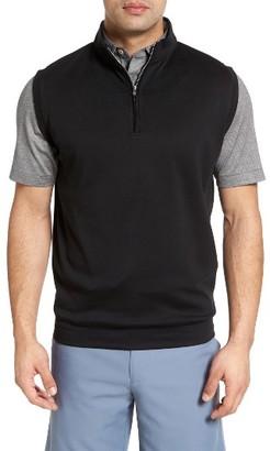 Men's Peter Millar Quarter Zip Vest $115 thestylecure.com