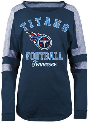 5th & Ocean Women's Tennessee Titans Space Dye Long Sleeve T-Shirt