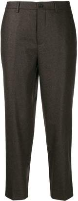 Berwich cropped straight-leg trousers