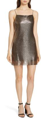 Alice + Olivia Harmony Chain Mail Silk Minidress
