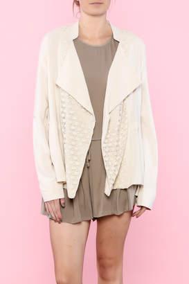 Hazel Beige Linen Jacket