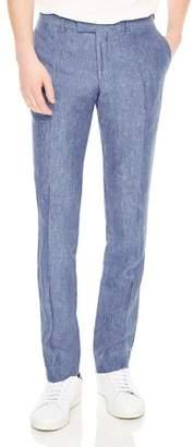 Sandro Notch Chambray Slim Fit Dress Pants