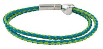 Tateossian Leather Pop Nugget Wrap Bracelet