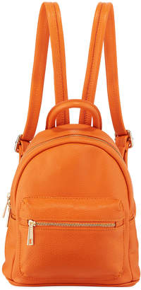 Neiman Marcus Mini Pebbled Leather Backpack