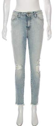 PRPS Mid-Rise Straight-Leg Jeans