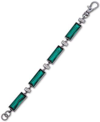 DKNY Hematite-Tone Crystal & Stone Flex Bracelet
