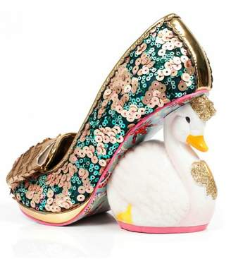 Irregular Choice Sequin Swan Heels $198 thestylecure.com