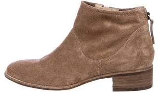 Paul Green Suede Round-Toe Ankle Boots