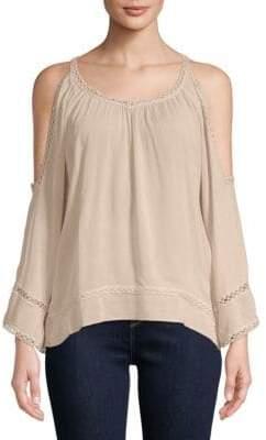 Lumie Lace Cold-Shoulder Top