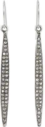 "Feathered Soul Women's Pavé Diamond & Sterling Silver ""Short Wand"" Earrings"